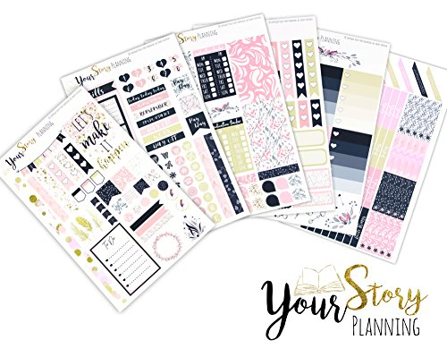 monthly-kit-your-story-black-pink-gold-repositionable-kawaii-personal-planner-pack-erin-condren-mamb