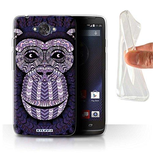 Stuff4 Gel TPU Hülle / Hülle für Motorola DROID Turbo / Affe-Lila Muster / Aztec Tier Muster Kollektion