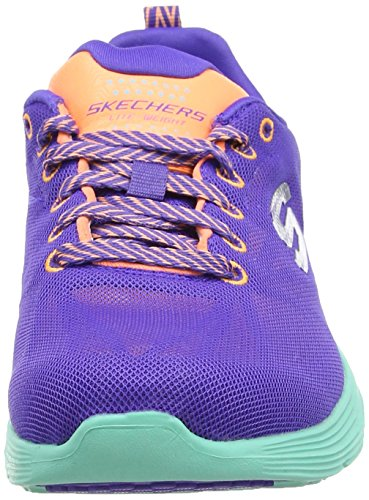 Skechers ValerisFront Page - Sneakers da donna Multicolore (Viola /Arancione/Turchese)