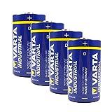 Varta Batterie 4er-Pack Industrial 4020 Alkaline Mono D / LR20 / MN1300, 481386