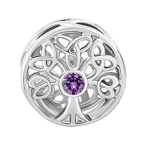Uniqueen Jewellery New Style Filigree Celtic Knot Spacer Charms Beads with Crystal Bead Fit Bracelet Gifts ruREoO
