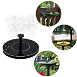 HUANGYABO Solar-Birdbath-Brunnen-Pumpe 1.4W Solar Outdoor-Brunnen Panel Kit Panel
