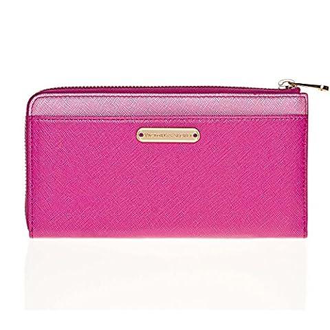 NEW Genuine VICTORIA'S SECRET Womens Zip Around Purse Wallet - Gift Boxed - PINK