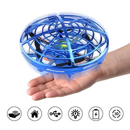 ionlyou Kinder Drohne Mini UFO Infraroterkennung Steuerung Geschenk kleine Junge Mädchen ab 3 Jahren Alt, Indoor Drohne (Blau)
