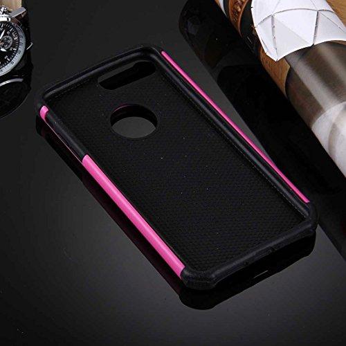 Für iPhone 7 Plus Ball Texture Separate TPU + PC Schock-resistenten Kombination Fall DEXING ( Color : Magenta ) Magenta