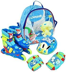 Clanners - Set de Patines transformables en línea Chico, Talla 31-34 (Saica Toys 8970)