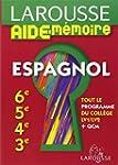 Larousse Aide-M�moire Espagnol 6e-5e-...