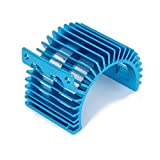 RCAWD disipador de calor disipador de refrigeración sin ventilador N10025 540/545/550 tamaño del motor lado aleación de ventilación de aluminio para 1/10 RC Hobby modelo coche / barco HSP HPI Wltoys Himoto Redcat 1Pcs(azul)