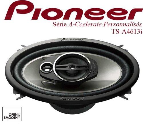 Pioneer TS-A4633I KFZ spezifischer 9,5 x 15,3 cm (4 x 6 Zoll) 3-Wege Koaxial Lautsprecher mit 200W bei 4 Ohm Impedanz schwarz