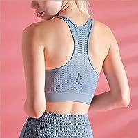 Baycheey 2020 Nuevo Sujetador de los Deportes Gimnasia Transpirable ya Prueba de Golpes de Malla Interior cómoda Costura Aptitud Reunir Las Mujeres del Chaleco de la Yoga (Color : Azul, tamaño : S)