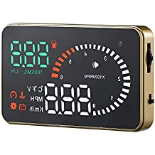 Alarma Temperatura de Agua Gauge//Voltaje// Mileage Coche Parabrisas Proyector KKmoon 3.5 OBD OBDII HUD Head Up Display KM//h MPH Veloc/ímetro