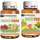 Suppléments de perte de poids | 2 suppléments | Burner Stack 60 cpr | Minceur thermogénique brûle les graisses...