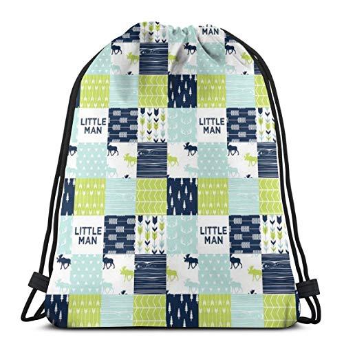 vintage cap 2 Scale - Bear Creek Patchwork Quilt Top Little Man_8507 3D Print Drawstring Backpack Rucksack Shoulder Bags Gym Bag for Adult 16.9