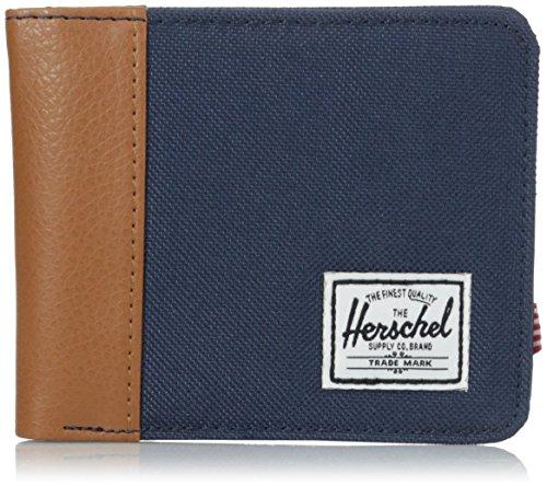 Herschel - Portafogli, Unisex - adulto, Multicolore (Multicolore (Navy/Tan/Navy Nylon)), Taglia unica