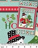 Holiday Schneemänner (Weihnachten zum aufhängen, Baumwolle, mit Stoffbahn Benartex