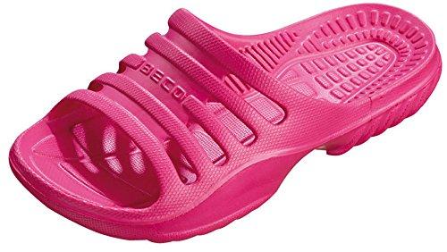 BECO Kinder Badepantolette / Badeschuh / Badelatschen pink 32