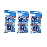 Supermax 3 Hattrick Triple Blade Disposable Razor (5 Razor In A Pack) Pack Of 3