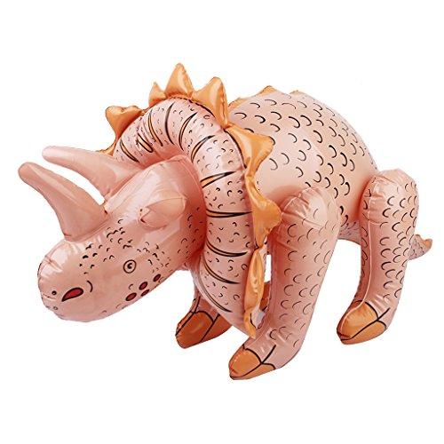 Sharplace Aufblasbare Triceratops Dinosaurier Spielzeug für Party Pool Strand Spielzeug - 70 x 40 cm
