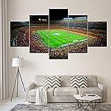 Pintura de la lona españa barcelona deportes fútbol 5 Unidades Arte de la pared Pintura Modular Wallpapers Impresión Del Cartel Decoración Para El Hogar, 40X100