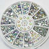 Great Mixed DIY size glitter Rhinestones charm 3D nail art Decor accessori (multi colore)