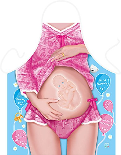 Tini - Shirts Gladiator Motiv Kochschürze sexy Gladiator Kostüm Schürze : Baby on Board/Viva La Mama - Weihnachtssgeschenk-Set - Deko Geschenk Flasche Weihnachten