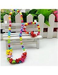 GYJUN Bijoux 1 Collier / 1 Bracelet Soirée Acrylique 1set Filles A Motifs Cadeaux de mariage