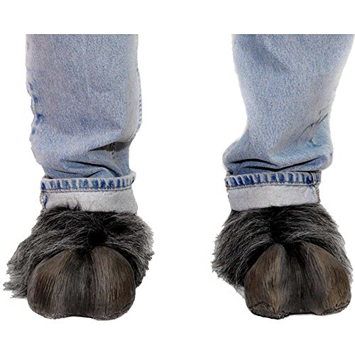 Hufe Kostüm Tier - Tier Hufe Schuhüberzieher Kostümzubehör grau