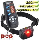 Hunde Ferntrainer DogTrace D-Control 440 - 250m Reichweite – Vibrationshalsband - Mit extra LED für Traning im Dunkeln und Vibration - Dog Trace Teletak Inklusive Hundepfeife