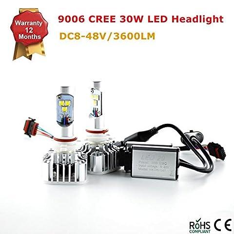 9005HB39006H8H11Hi/Lo Beam CREE LED Lampen Scheinwerfer–30W 3,600lm 8–48V weiß (6,000K) Plug & Play Conversion Kit