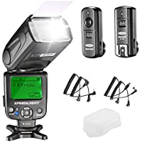 Neewer NW620 Manual Flash Speedlite Kit for Canon Nikon DSLR Cameras,Includes:NW620 GN58 Flash Speedlite,Hard Diffuser,2.4G Wireless Trigger