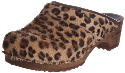 Sanita Wood-Caroline open 1706199W-87, Chaussures femme Marron (Léopard marron)