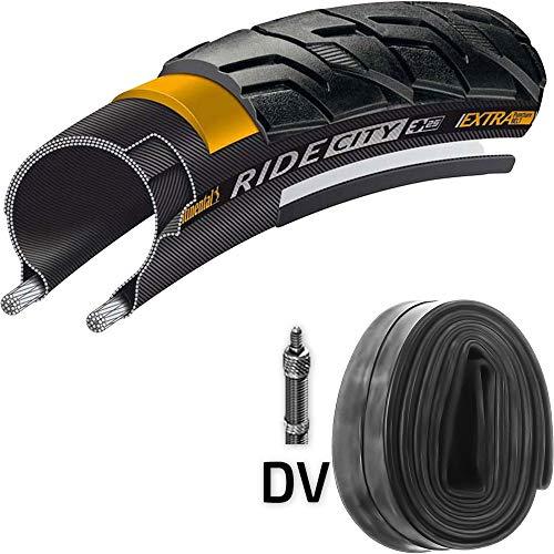 Continental Reifen Ride City E25 28x1,6Zoll + Schlauch 42-622mm Reflex -
