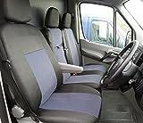 flexzon 2+1 SPRINTER RHD GREY Tailored Grey-Black Fabric Seat Covers