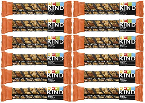 Be-Kind Riegel Peanut Butter Dark Chocolate + Protein - 12er Packung, hochwertige Nussriegel Multipack aus den USA -