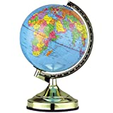 The Gadget Company 13-inch Globe Touch Lamp with Bulb Rotating Globe Bedroom Childrens Room