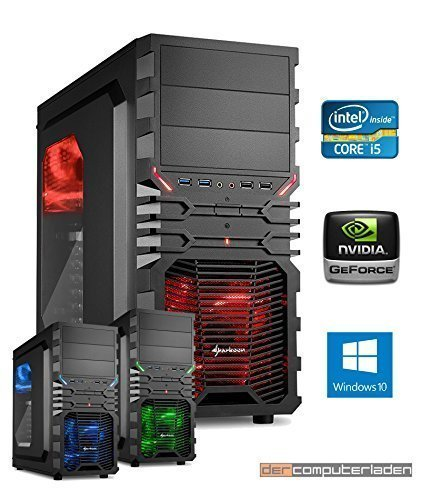 Gamer PC System Intel, i5-6500 4x3,2 GHz, 8GB DDR4 RAM, 1000GB HDD, nVidia GT730 -4GB, inkl. Windows 10 (inkl. Installation) Gaming Computer Büro Multimedia dercomputerladen