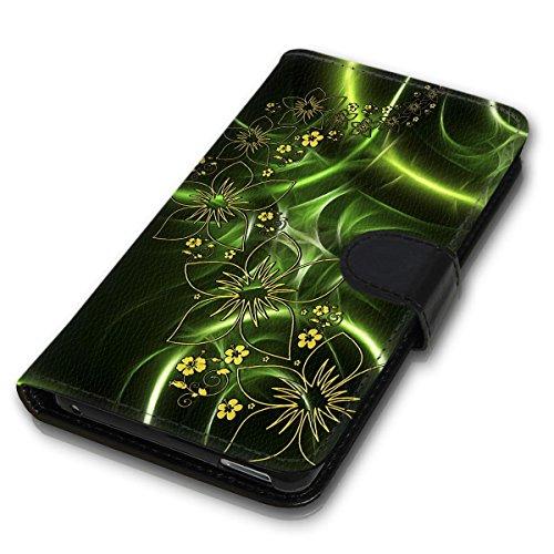 Wallet Book Style Flip Handy Tasche Case Schutz Hülle Schale Motiv Etui für Apple iPhone 4 / 4S - Variante UMV11 Design12 Design 8