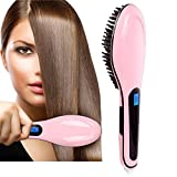 Gopani Fast Hair Straightener Brush With Temperature (Multicolor)