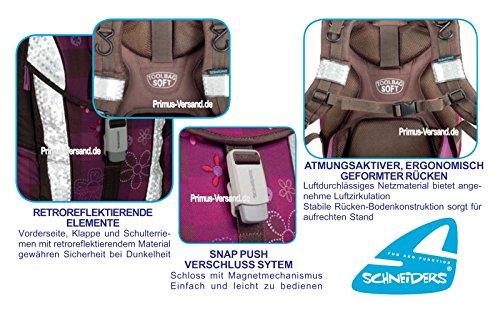 Olivia the Owl Eule Schulranzen Set TOOLBAG SOFT Schneiders u. passende Federtasche hochwertige Sporttasche Set 12 tlg. – 78405-051 - 6