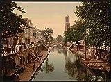Photo The Oude Gracht Hamburgerbrug Utrecht A4 10x8 Poster