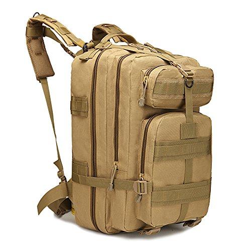 Imagen de eyourlife rfid  militar táctica molle para acampada camping senderismo deporte backpack de asalto patrulla para hombre mujer 40l amarillo oscuro