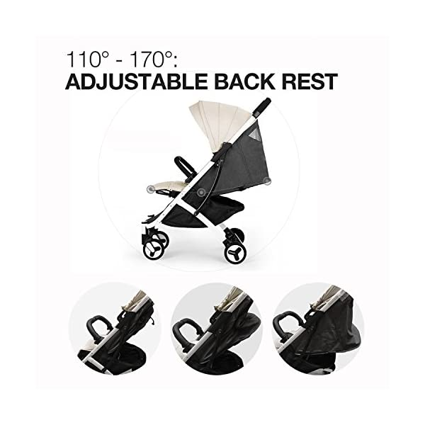 Allis Travel Pushchair Buggy Lightweight Stroller Plume - Beige  High Quality, made according to British Standard EN1888, Fabrick OKo-Tex standard 100 and Fire Safety Regulations 1988. Suitable from 6M ( upto 15Kg Approx) Lightweight 5.8Kg, Travel size and easy to fold with one hand only 9