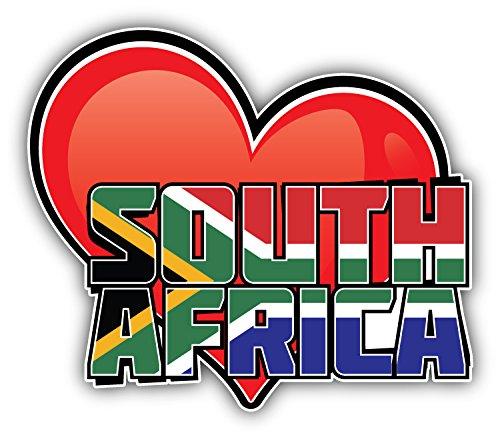 novland Südafrika Kunst Herz Flagge Reise Spruch Autoaufkleber Aufkleber Autoaufkleber Autoaufkleber Autoaufkleber Sticker 12,7 x 10,2 cm