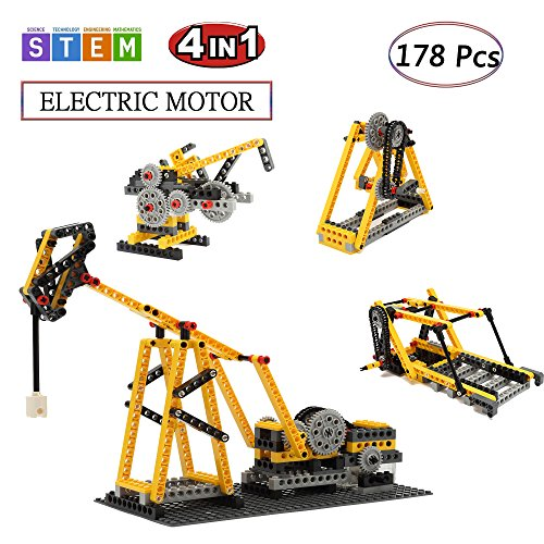SEIGNEER Electric Educational Learning Toys Kids Toys Building Set Kit Toys Stacking Blocks Bricks With Toy Storage Box