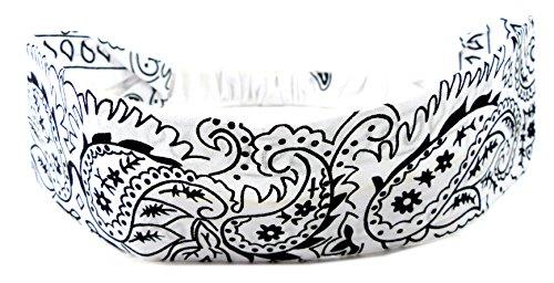 Bijoux de cheveux 4525 de nombreux modèles de baender Bandeau cheveux plastique noir Serre-tête palesti. Noir (Blanc)