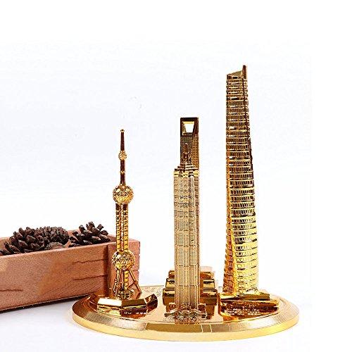 Unbekannt ZQ Shanghai architektonische Modell Dekoration Set orientalische Perle Jinmao Tower Shanghai Center globalen Tourismus Souvenir -