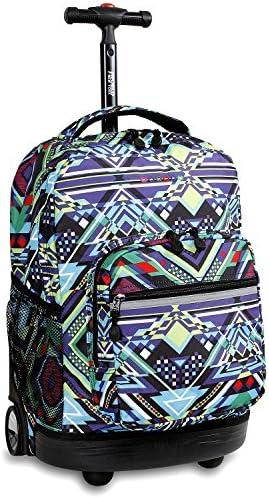 J World New York Sunrise Rolling Backpack Casual, Zaino Casual, Backpack 18 cm, 34.5 liters, MultiColoreeee (Zega) 832d31