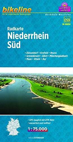Niederrhein South Cycle Map 2014 por Bikeline