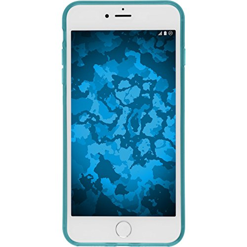 Coque en Silicone pour Apple iPhone 7 - transparent rose - Cover PhoneNatic Cubierta + films de protection Turquoise
