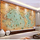 Rureng Benutzerdefinierte 3D Fototapete Zimmer Wandbild Home Decor Hd Foto Antike Navigation Weltkarte Sofa Tv Hintergrund Wand Vlies Wandbild-120X100Cm